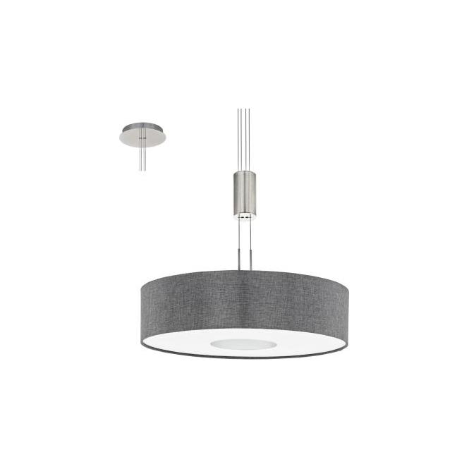 Eglo 95348 Romao 1 Light Ceiling Light Chrome/Satin Nickel