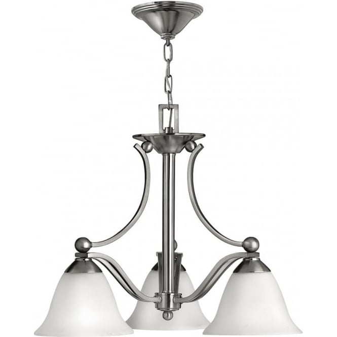 Elstead Hinkley HK/BOLLA3 Bolla 3  Light Ceiling Light Brushed Nickel