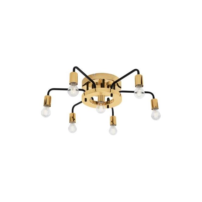 Eglo 95215 Paltas 7 Light Flushed Ceiling Light Gold