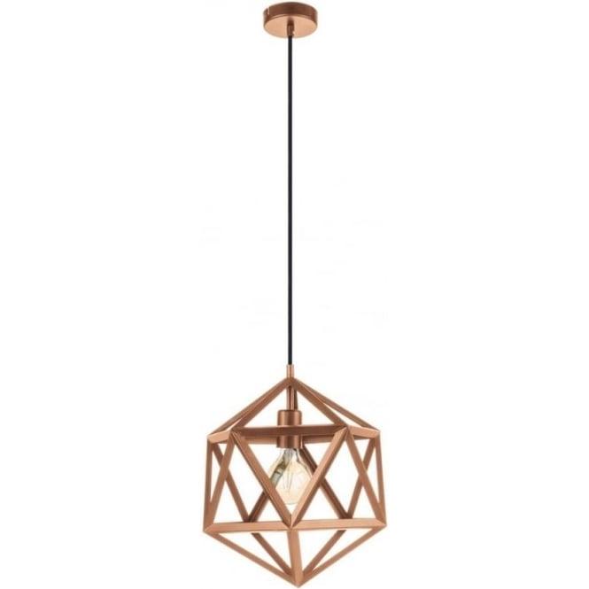 Eglo 49798 Embleton 1 Light Ceiling Pendant Copper