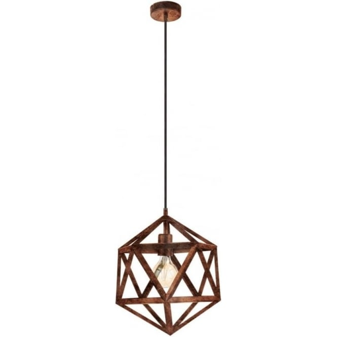 Eglo 49797 Embleton 1 Light Ceiling Pendant Antique Copper