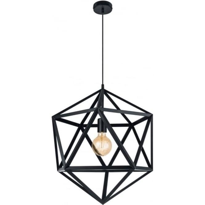 Eglo 49762 Embleton 1 Light Ceiling Pendant Black