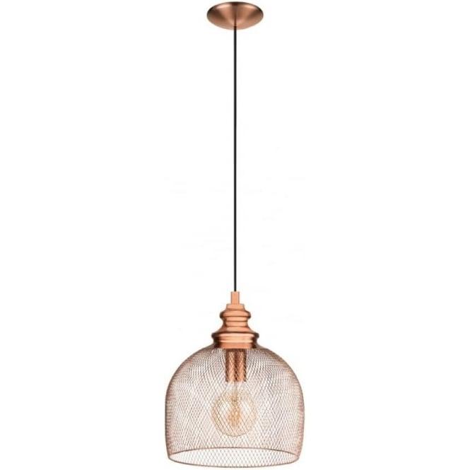 Eglo 49738 Straiton 1 Light Ceiling Pendant Copper