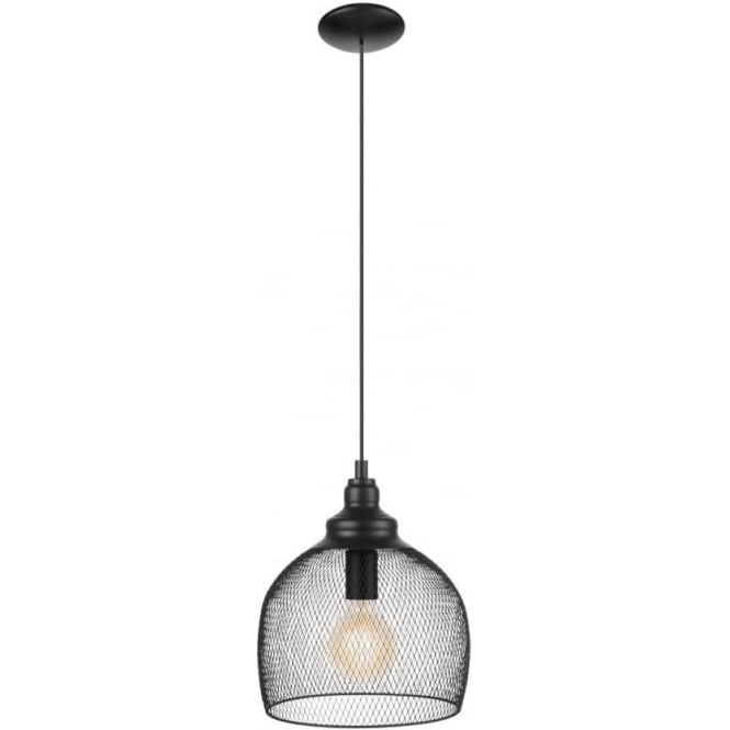 Eglo 49736 Straiton 1 Light Ceiling Pendant Black