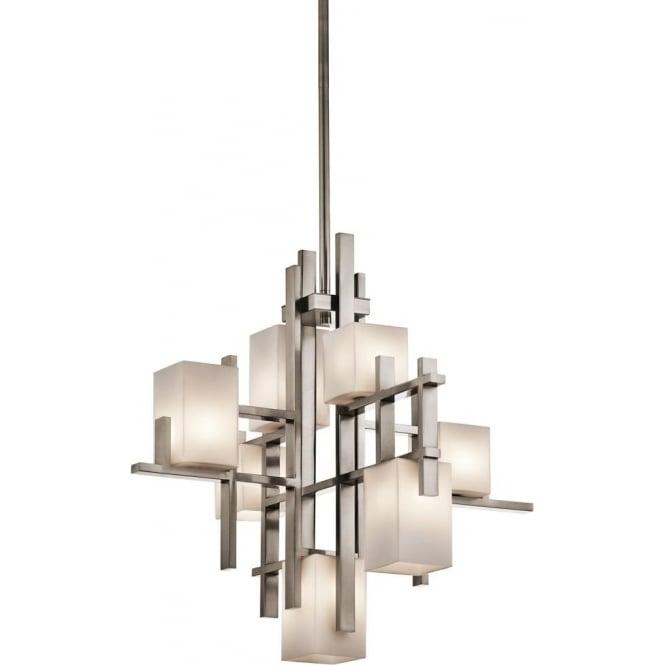 Elstead Kichler KL/CITYLIGHTS7A City Lights 7 Light Ceiling Pendant Pewter