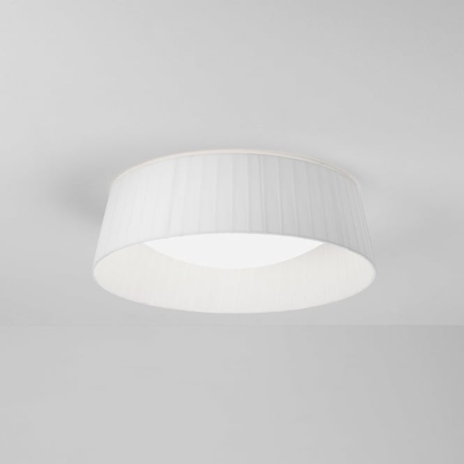 Astro 7995 Massa 300 LED Flush Ceiling Light with White Pleated Shade IP44