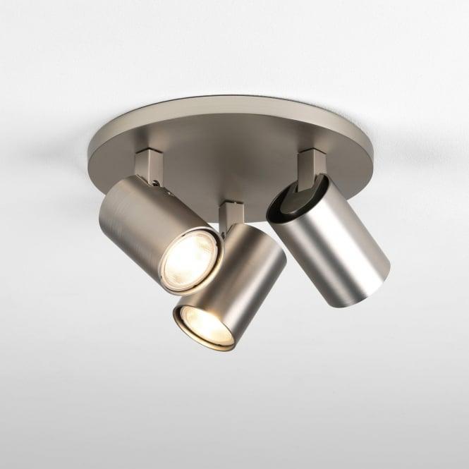 Astro 7950 Ascoli Triple Round 3 Light Spotlight Matt Nickel