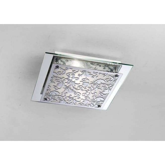 Diyas IL31016 Roveta 2 Light Wall/Ceiling Flush Light Polished Chrome
