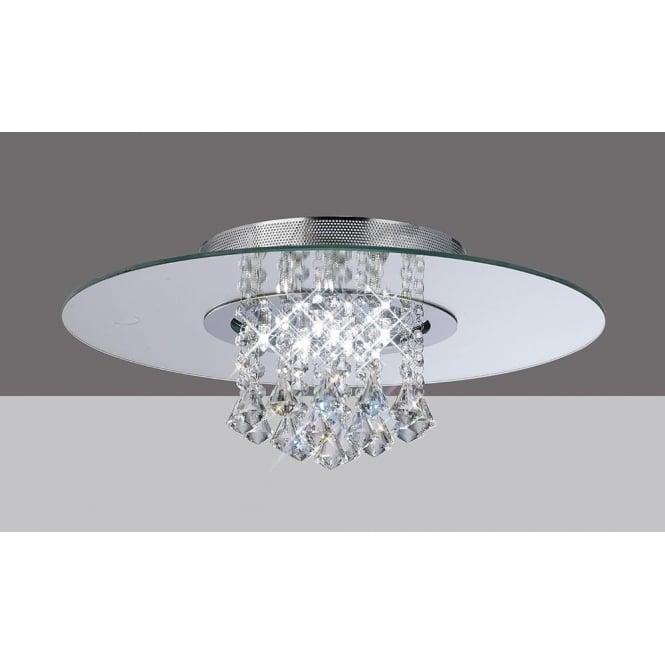 Diyas IL31007 Starda Round 8 Light Crystal Semi-flush Ceiling Light Polished Chrome