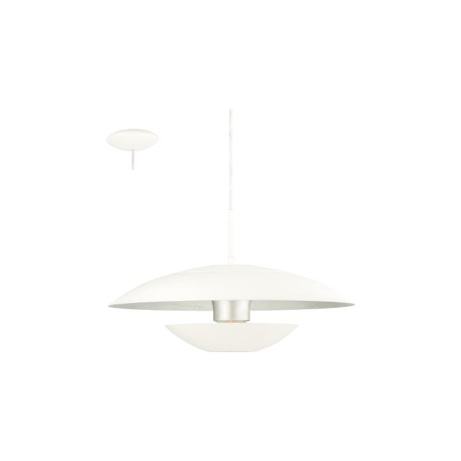 Eglo 95756 Nuvano 1 Light Ceiling Light White/Silver