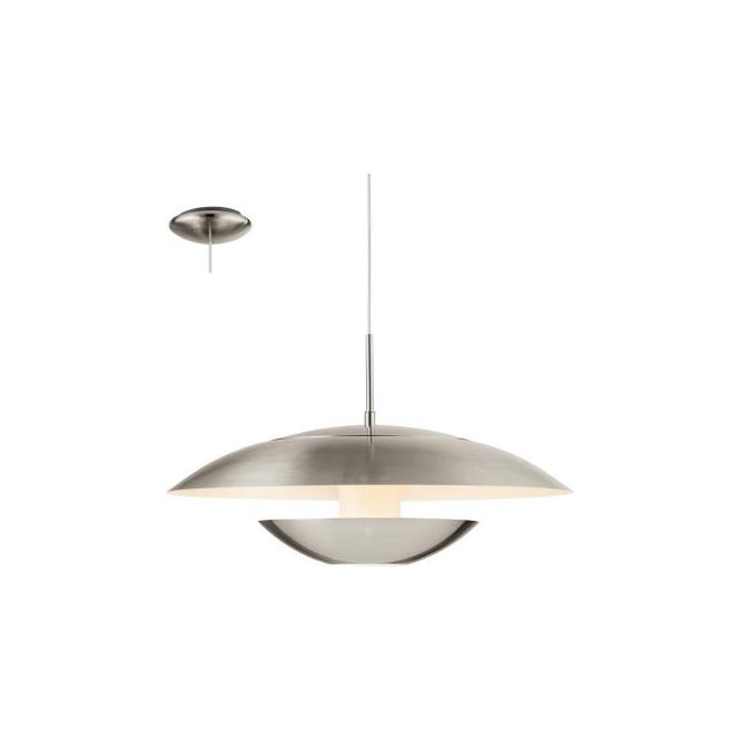 Eglo 95757 Nuvano 1 Light Ceiling Light Satin Nickel/Shiny White