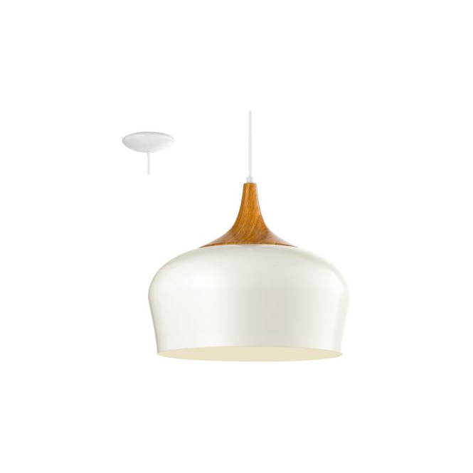 Eglo 95383 Obregon 1 Light Ceiling Pendant Cream