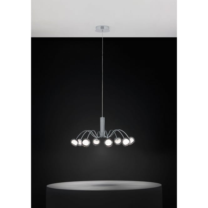 Eglo 39149 Malagon 8 Light Ceiling Pendant Polished Chrome