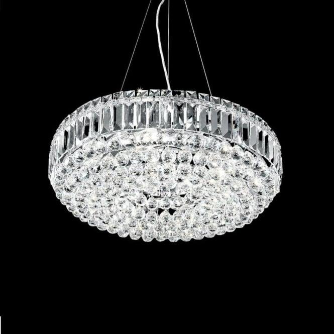 Franklite FL2020/9 Constellation 9 Light Crystal Chandelier Polished Chrome