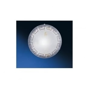 82877 Twister 1 light traditional flush ceiling light marble effect glass greek style medium