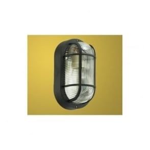 88802 Anola 1 light outdoor wall light oval black finish IP44 rated