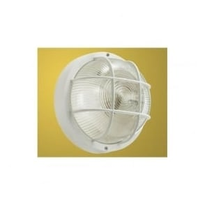 88807 Anola 1 light outdoor wall light round white finish IP44 rated