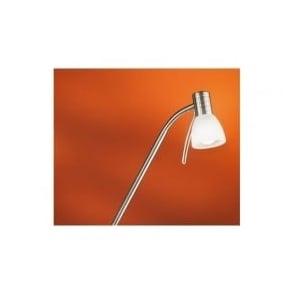 86431 Prince1 1 light modern spotlight floor lamp adjustable with alabaster glass nickel matt finish