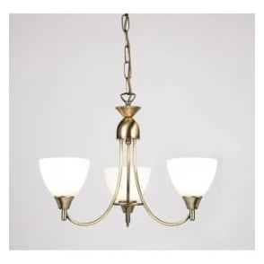 1805-3AN Alton 3 Light Ceiling Light Antique Brass