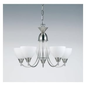 1805-5SC Alton 5 Light Ceiling Light Satin Chrome Finish