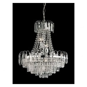 Endon 96826-CH Amadis 6 Light Chandelier Chrome