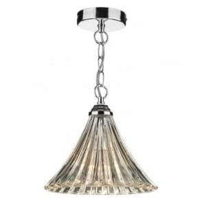 ARD0150 Ardeche 1 Light Ceiling Pendant Polished Chrome