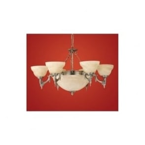 85858 Marbella 9 light traditional ceiling light pendant burnished brass finish