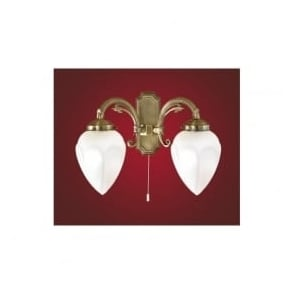 82745 Imperial 2 light traditional wall light burnished brass finish (switched)