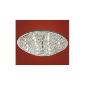 90148 Cromer 12 light modern flush ceiling light chrome finish
