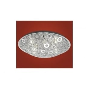 90149 Cromer 12 light modern flush ceiling light chrome finish