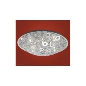 90149 Cromer 12 light modern flush ceiling light chrome finish