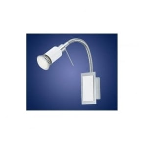 90832 Eridan 1 light LED wall spotlight chrome finish adjustable