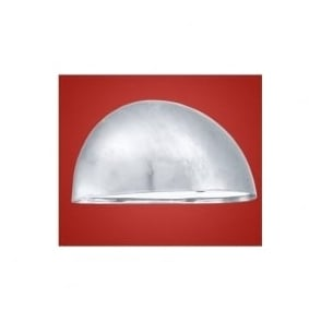 90867 Lepus 1 light modern outdoor wall light galvanised steel and white finish IP23 rated