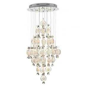 CLO2550 Cloud 21 Light Modern Ceiling Pendant Light Polished Chrome Finish