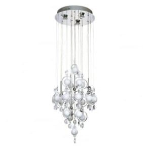CLO1250 Cloud 12 Light Modern Ceiling Pendant Light Polished Chrome Finish