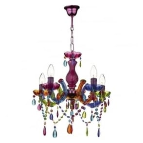 SOU0555 Souk 5 Light Multi Colour Chandelier
