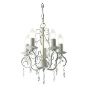 LYD0533 Lydia 5 Light Ceiling Light Cream