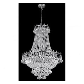 9112-52CC Versailles 9 Light Chandelier Polished Chrome