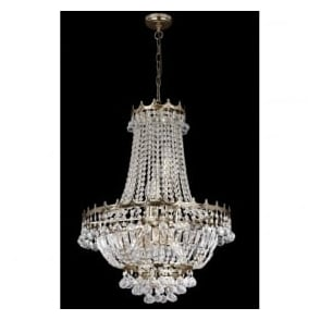 9112-52GO Versailles 9 Light Chandelier Gold