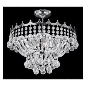 9113-39CC Versailles 5 Light Semi-Flush Chandelier Polished Chrome