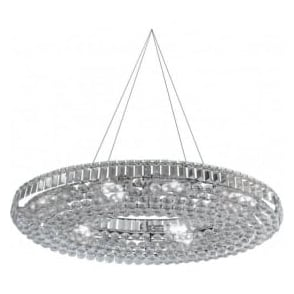 9190CC Hanna 24 Light Ceiling Pendant Polished Chrome
