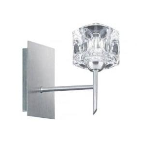 4341-1 Ice Cube 1 Light Wall Light Satin Silver