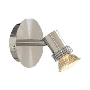 P6331SS Decco 1 Light Wall Spotlight Satin Silver