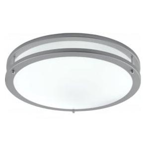 2119-40 Fluorescents 1 Light Flush Ceiling Light Grey