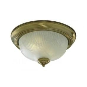 7622-11AB Flush 2 Light Flush Ceiling Light Antique Brass