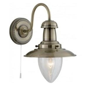 5331-1AB Fisherman 1 Light Wall Light Antique Brass