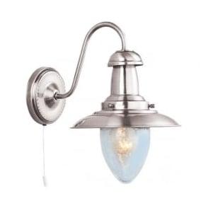 5331-1SS Fisherman 1 Light Wall Light Satin Silver
