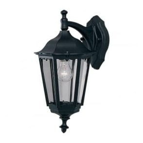 82531BK Alex 1 Light Outdoor Lantern Wall Light IP44 Rated Cast Aluminium Alchromated Black