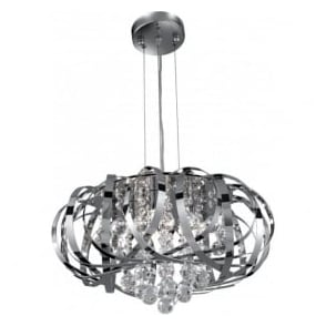 6975-5CC Tilly 5 Light Ceiling Pendant Polished Chrome