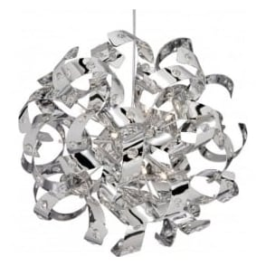 9812-12CC Curls 12 Light Ceiling Pendant Polished Chrome